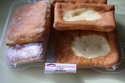 US supermarket fasnacht pastries, rectangular, Feb 2013.jpg