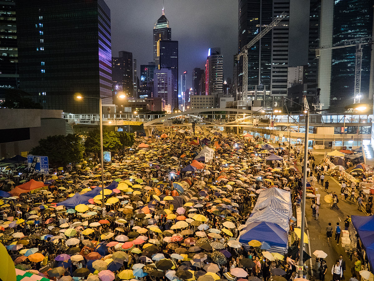 Umbrella Revolution Harcourt Road View 20141028.jpg