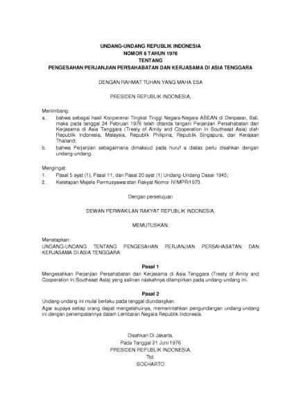 File:Undang-Undang Republik Indonesia Nomor 6 Tahun 1976.djvu