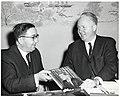 Unidentified man and Mayor John F. Collins (10949996886).jpg