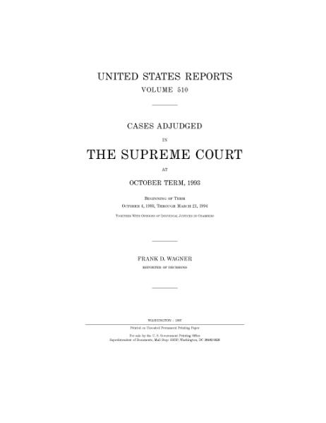 File:United States Reports, Volume 510.djvu
