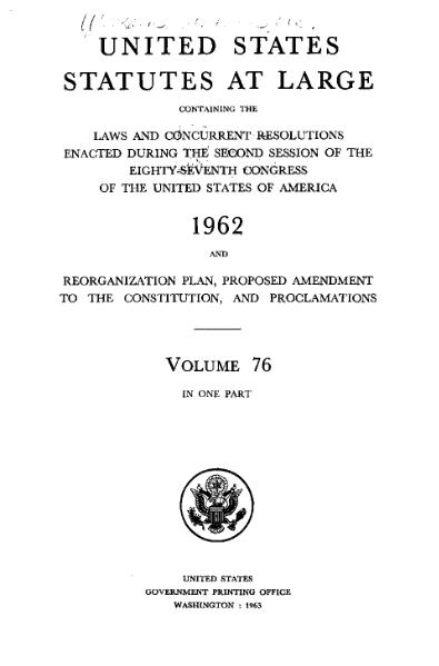 File:United States Statutes at Large Volume 76.djvu
