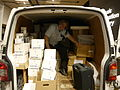 Unloading the Wikimania van at the Barbican 03.jpg