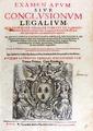 Ursellius - Examen apum siue conclusionum legalium, 1632 - 442.tif