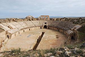 Uthina - Uthina amphitheater.