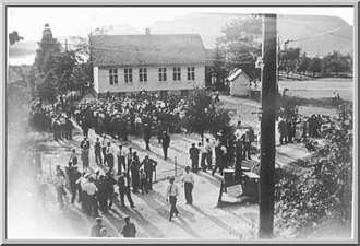 Uskedal - Image: Utstilling og dans 1915