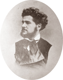 Sepia photography of Octave Uzanne at the age of 24 years