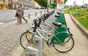 Amiens - Vélam public bicycle sharing system in Amiens.