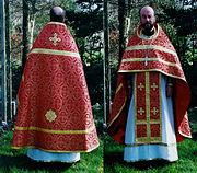 Ksiądz prawosławny (prezbiter) w stroju liturgicznym