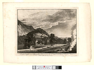 Valla Crusses near Llangollin, belonging to Sir Watkin Williams Wynn bart
