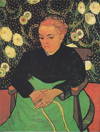 Portraits by Vincent van Gogh - La Berceuse (Augustine Roulin), February 1889, The Art Institute of Chicago, Illinois (F508)