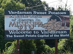 Sign located along Mississippi Highway 8