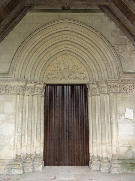 Vasseny (Aisne) église Saint-Rupert et Saint-Druon, portail sous la porche
