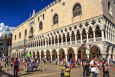 Venice city scenes - in St. Mark's square - Doge's Palace (11002235446).jpg
