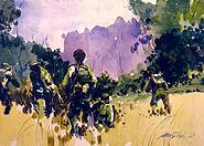 VietnamCombatArtCAT08JamesRDrakeLongRangePatrol