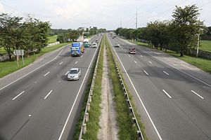 Philippine expressway network - Image: View From NLEX Overpass, Bulacan, Philippines panoramio