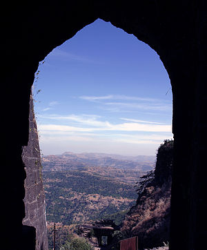 "Sinhagad - Sinhagad: View from the ""Pune Darwaja"""