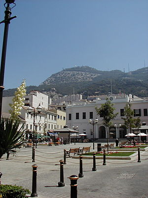John Mackintosh Square - View of John Mackintosh Square in 2005, with the Gibraltar Parliament at the East side of the square
