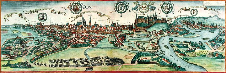 View of Krakow (Cracovia) near the end of the 16th-century View of Krakow near the end of the 16th century.jpg