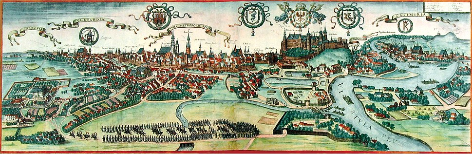 View of Kraków near the end of the 16th century