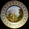 View of the Monastery of Montserrat, plate, painted by Louis-Albert-Guislain Bacler d'Albe, Sevres Factory, 1822, hard-paste porcelain - Montreal Museum of Fine Arts - Montreal, Canada - DSC08723.jpg