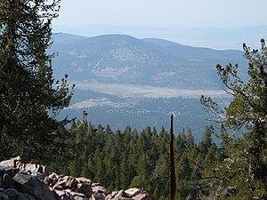 Sugarloaf Mountain (San Bernardino County, California) - Image: View to north from Sugarloaf
