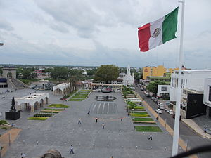 Villahermosa - Main square in the Historic Center