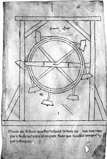 Schizzo di Villard de Honnecourt, 1230 circa