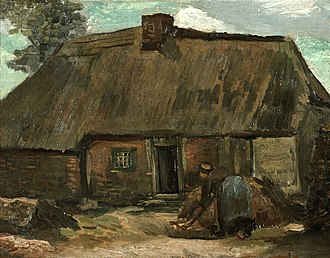 Cottages (Van Gogh series) - Image: Vincent van Gogh Cottage with Peasant Woman Digging