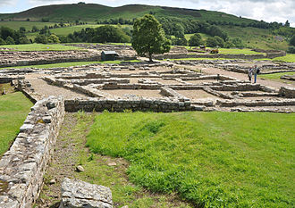 Claudia Severa - Remains of stone forts at Vindolanda