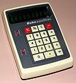 Vintage Bohn Omnitrex Electronic Pocket Calculator, Made In Taiwan, VFD, Circa 1973 (15992278795).jpg