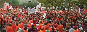 2005 Virginia Tech Hokies football team - Hokie fans at College GameDay