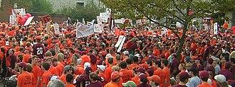 2005 Virginia Tech Hokies football team - Hokie fans at College GameDay