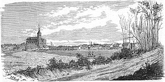 Getafe - Engraving of Getafe from the 19th century.