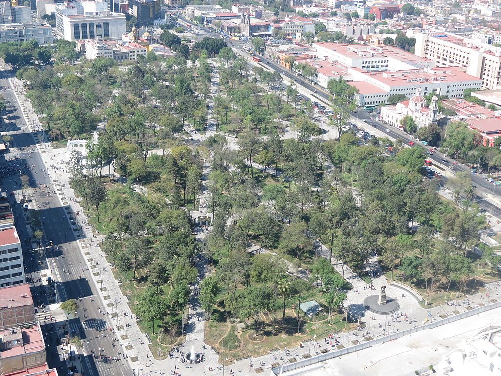 Vista de la Alameda Central desde la Torre Latinoamericana.JPG
