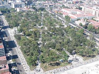 Alameda Central public park in Mexico City
