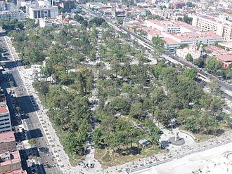 Alameda Central - Image: Vista de la Alameda Central desde la Torre Latinoamericana