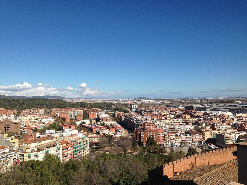 File:Vista panoramica Castelldefels des del Castell de Fels.jpg