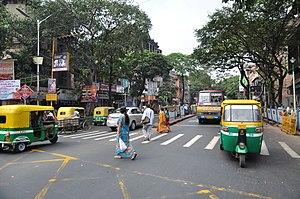 Vivekananda Road - Vivekananda road at Bidhan Sarani crossing.