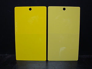 Comparison of of C.I. Pigment Yellow 184 (left...