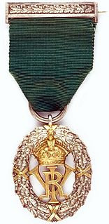 Volunteer Officers Decoration for India and the Colonies UK long service medal for volunteer officers