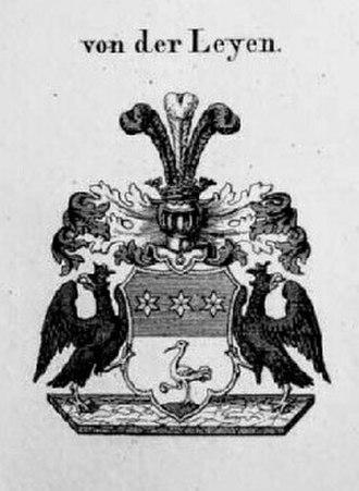 Von der Leyen (family from Krefeld) - Coat of Arms