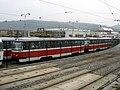 Vozovna Pisárky, odstavená souprava T3.jpg