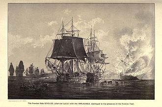 HMS Implacable (1805) - Image: Vsevolod v. Implacable 1808