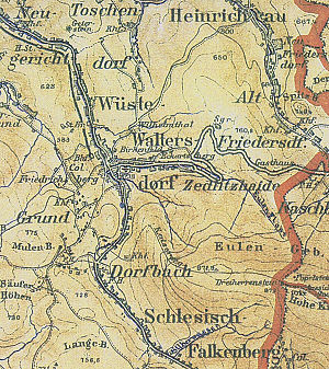 Walim, Lower Silesian Voivodeship - A map featuring Walim from 1900