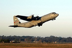 WC-130J taking off from Keesler Air Force Base in Mississippi.jpg