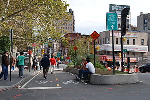 Physically Separated Bike Lanes in New York City