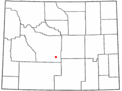 Location of Jeffrey City, Wyoming