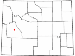 Location of Pinedale, Wyoming