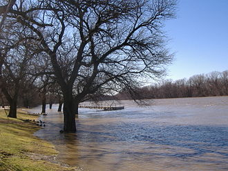 On the Banks of the Wabash, Far Away - The Wabash River by Paul Dresser's family home